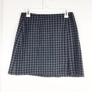 Vintage check plaid school girl Skirt
